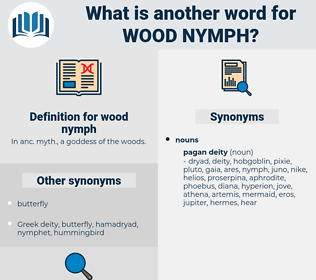 wood nymph, synonym wood nymph, another word for wood nymph, words like wood nymph, thesaurus wood nymph