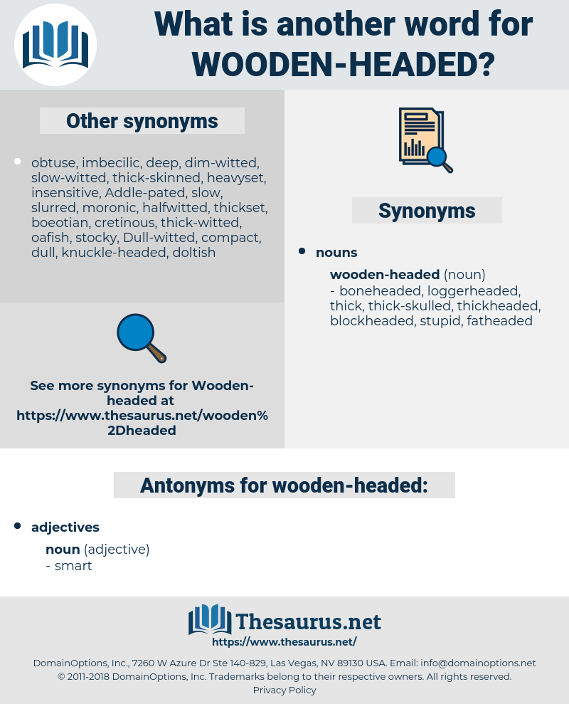 wooden-headed, synonym wooden-headed, another word for wooden-headed, words like wooden-headed, thesaurus wooden-headed