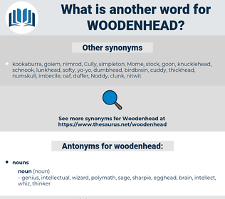 woodenhead, synonym woodenhead, another word for woodenhead, words like woodenhead, thesaurus woodenhead