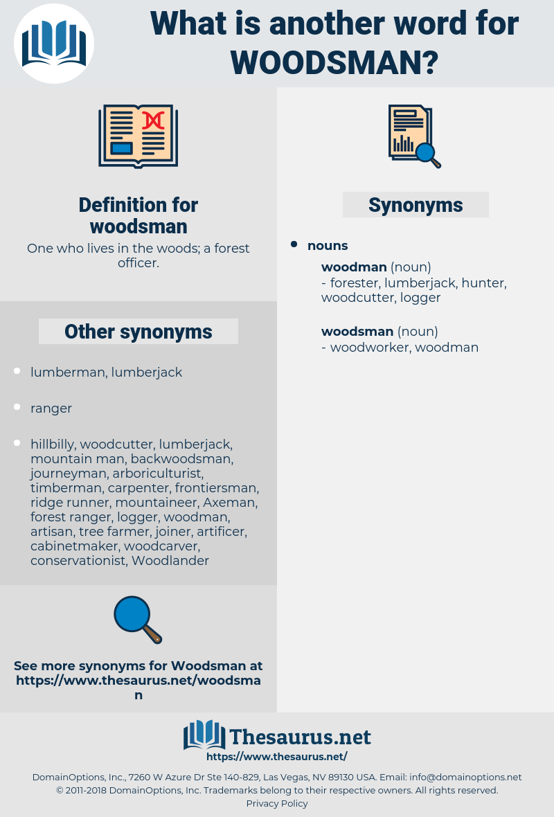 woodsman, synonym woodsman, another word for woodsman, words like woodsman, thesaurus woodsman