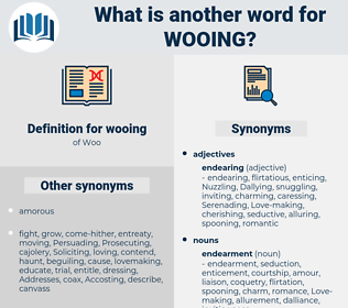 wooing, synonym wooing, another word for wooing, words like wooing, thesaurus wooing