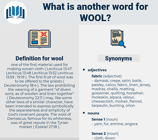 wool, synonym wool, another word for wool, words like wool, thesaurus wool