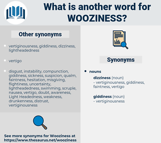 wooziness, synonym wooziness, another word for wooziness, words like wooziness, thesaurus wooziness