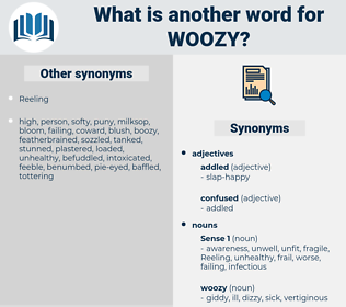 woozy, synonym woozy, another word for woozy, words like woozy, thesaurus woozy
