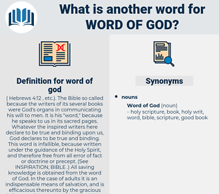 word of god, synonym word of god, another word for word of god, words like word of god, thesaurus word of god