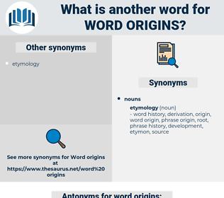 word origins, synonym word origins, another word for word origins, words like word origins, thesaurus word origins
