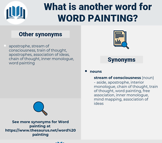 word-painting, synonym word-painting, another word for word-painting, words like word-painting, thesaurus word-painting