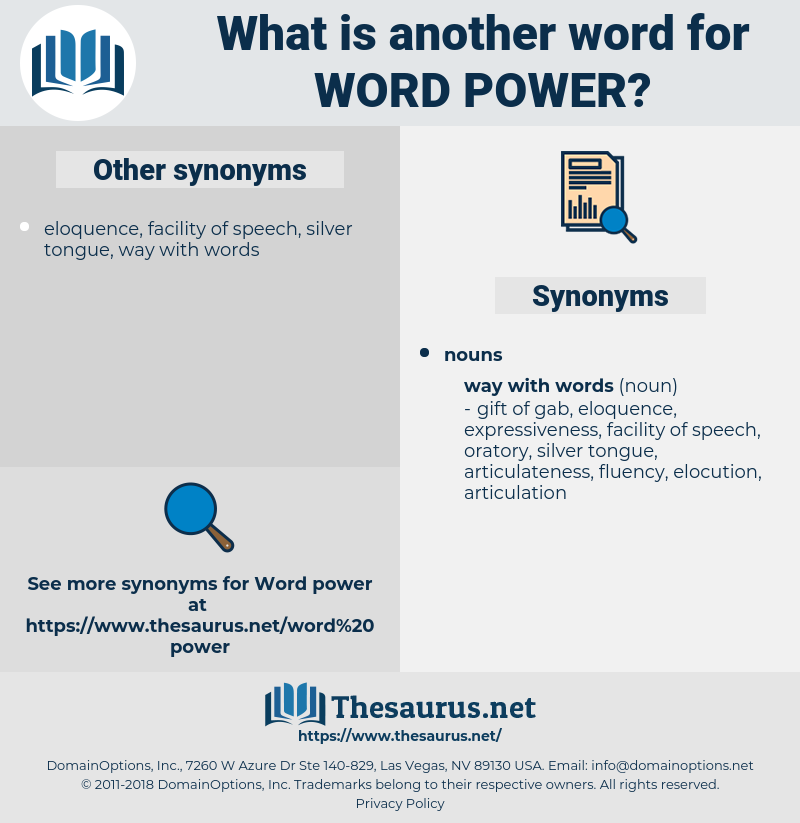 word power, synonym word power, another word for word power, words like word power, thesaurus word power