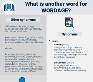 wordage, synonym wordage, another word for wordage, words like wordage, thesaurus wordage