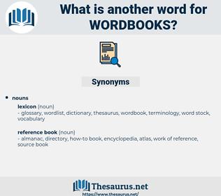 wordbooks, synonym wordbooks, another word for wordbooks, words like wordbooks, thesaurus wordbooks