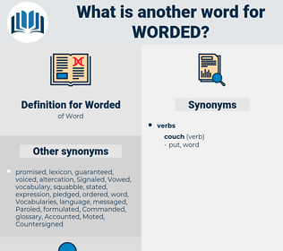Worded, synonym Worded, another word for Worded, words like Worded, thesaurus Worded