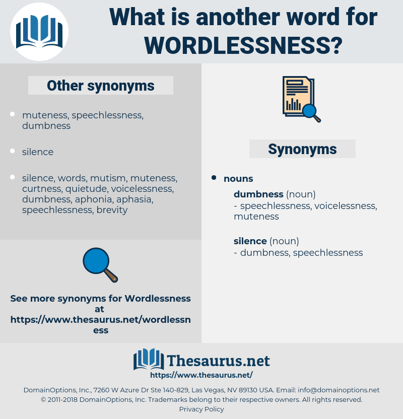 wordlessness, synonym wordlessness, another word for wordlessness, words like wordlessness, thesaurus wordlessness