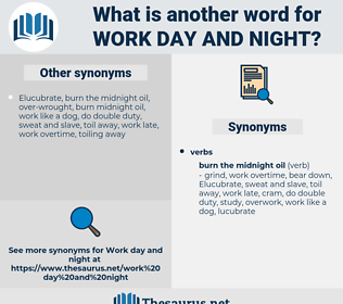 work day and night, synonym work day and night, another word for work day and night, words like work day and night, thesaurus work day and night
