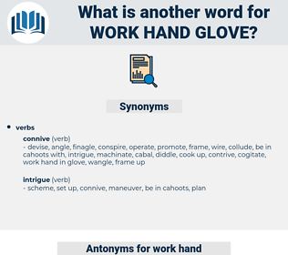 work hand glove, synonym work hand glove, another word for work hand glove, words like work hand glove, thesaurus work hand glove