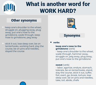 work hard, synonym work hard, another word for work hard, words like work hard, thesaurus work hard