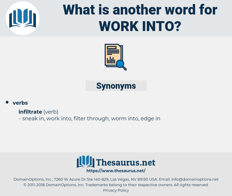 work into, synonym work into, another word for work into, words like work into, thesaurus work into
