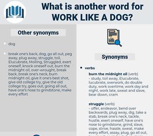 work like a dog, synonym work like a dog, another word for work like a dog, words like work like a dog, thesaurus work like a dog