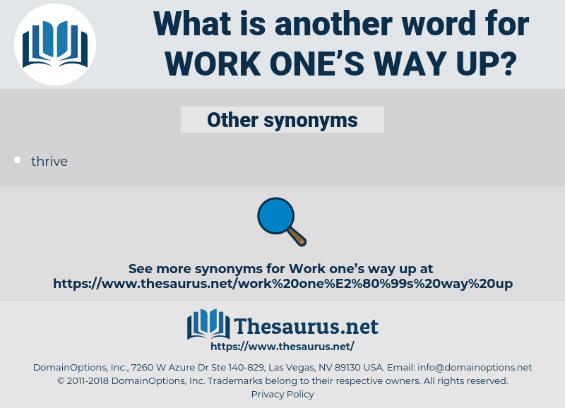 work one's way up, synonym work one's way up, another word for work one's way up, words like work one's way up, thesaurus work one's way up