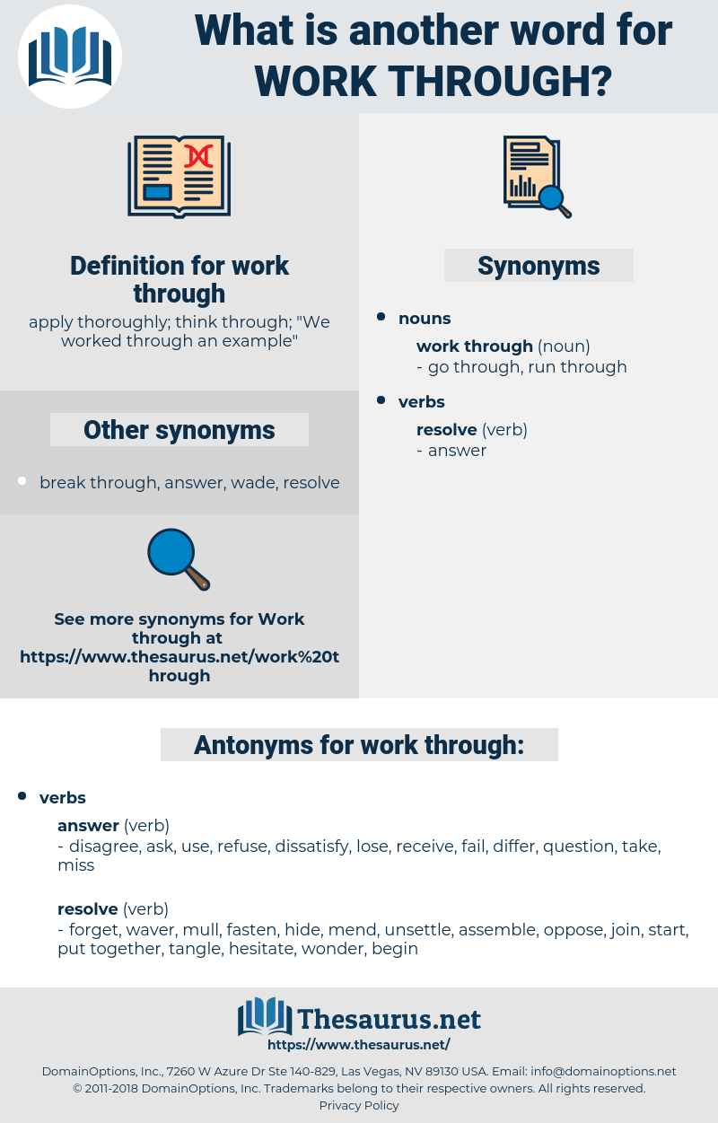 Synonyms For Work Through Antonyms For Work Through Thesaurus Net