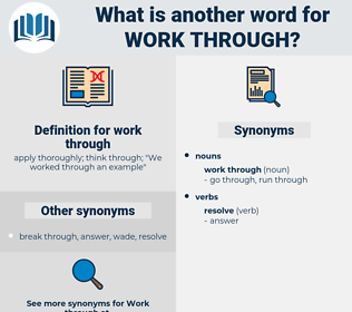 work through, synonym work through, another word for work through, words like work through, thesaurus work through