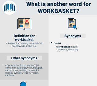 workbasket, synonym workbasket, another word for workbasket, words like workbasket, thesaurus workbasket