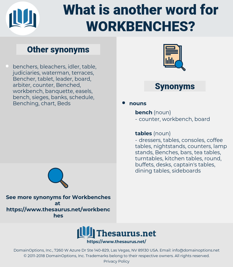 workbenches, synonym workbenches, another word for workbenches, words like workbenches, thesaurus workbenches