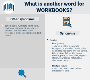 workbooks, synonym workbooks, another word for workbooks, words like workbooks, thesaurus workbooks