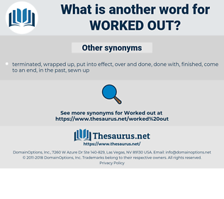 worked out, synonym worked out, another word for worked out, words like worked out, thesaurus worked out