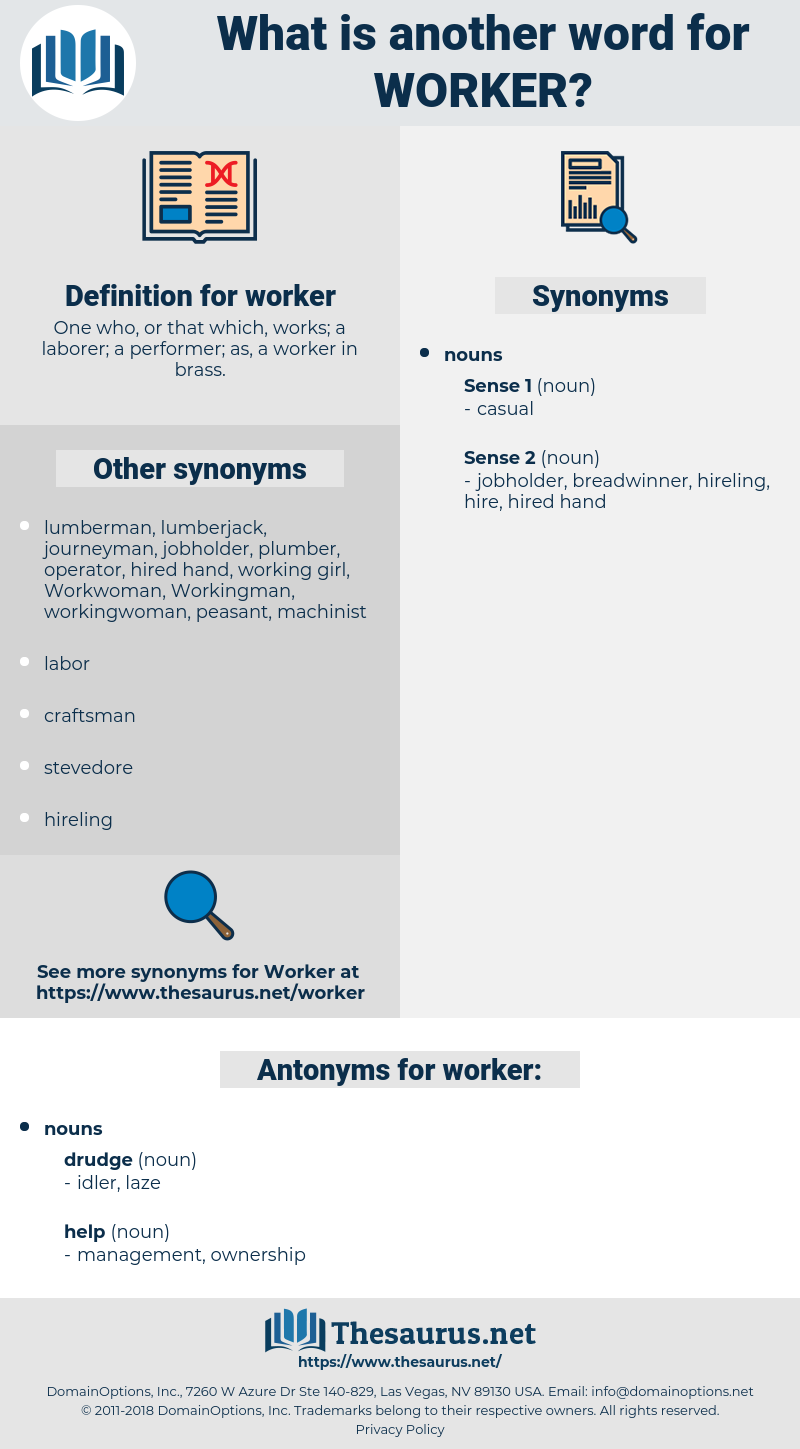 worker, synonym worker, another word for worker, words like worker, thesaurus worker