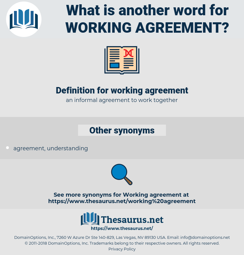 working agreement, synonym working agreement, another word for working agreement, words like working agreement, thesaurus working agreement