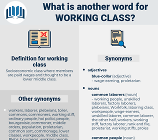 working class, synonym working class, another word for working class, words like working class, thesaurus working class