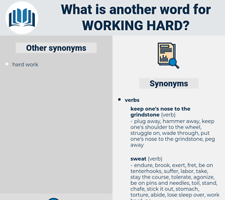 working hard, synonym working hard, another word for working hard, words like working hard, thesaurus working hard