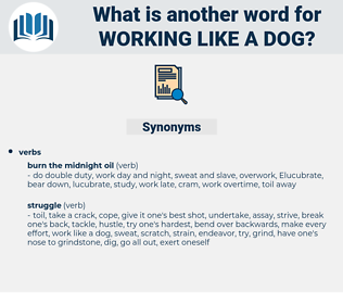 working like a dog, synonym working like a dog, another word for working like a dog, words like working like a dog, thesaurus working like a dog