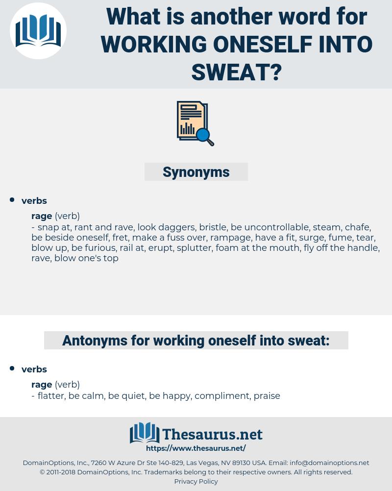 working oneself into sweat, synonym working oneself into sweat, another word for working oneself into sweat, words like working oneself into sweat, thesaurus working oneself into sweat