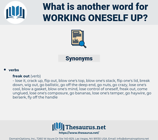 working oneself up, synonym working oneself up, another word for working oneself up, words like working oneself up, thesaurus working oneself up