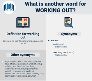 working out, synonym working out, another word for working out, words like working out, thesaurus working out