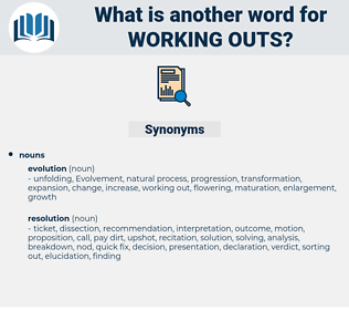 working outs, synonym working outs, another word for working outs, words like working outs, thesaurus working outs