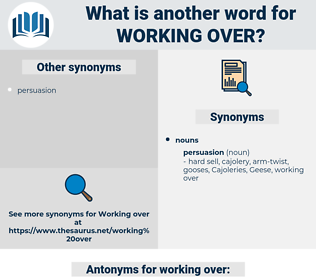 working over, synonym working over, another word for working over, words like working over, thesaurus working over