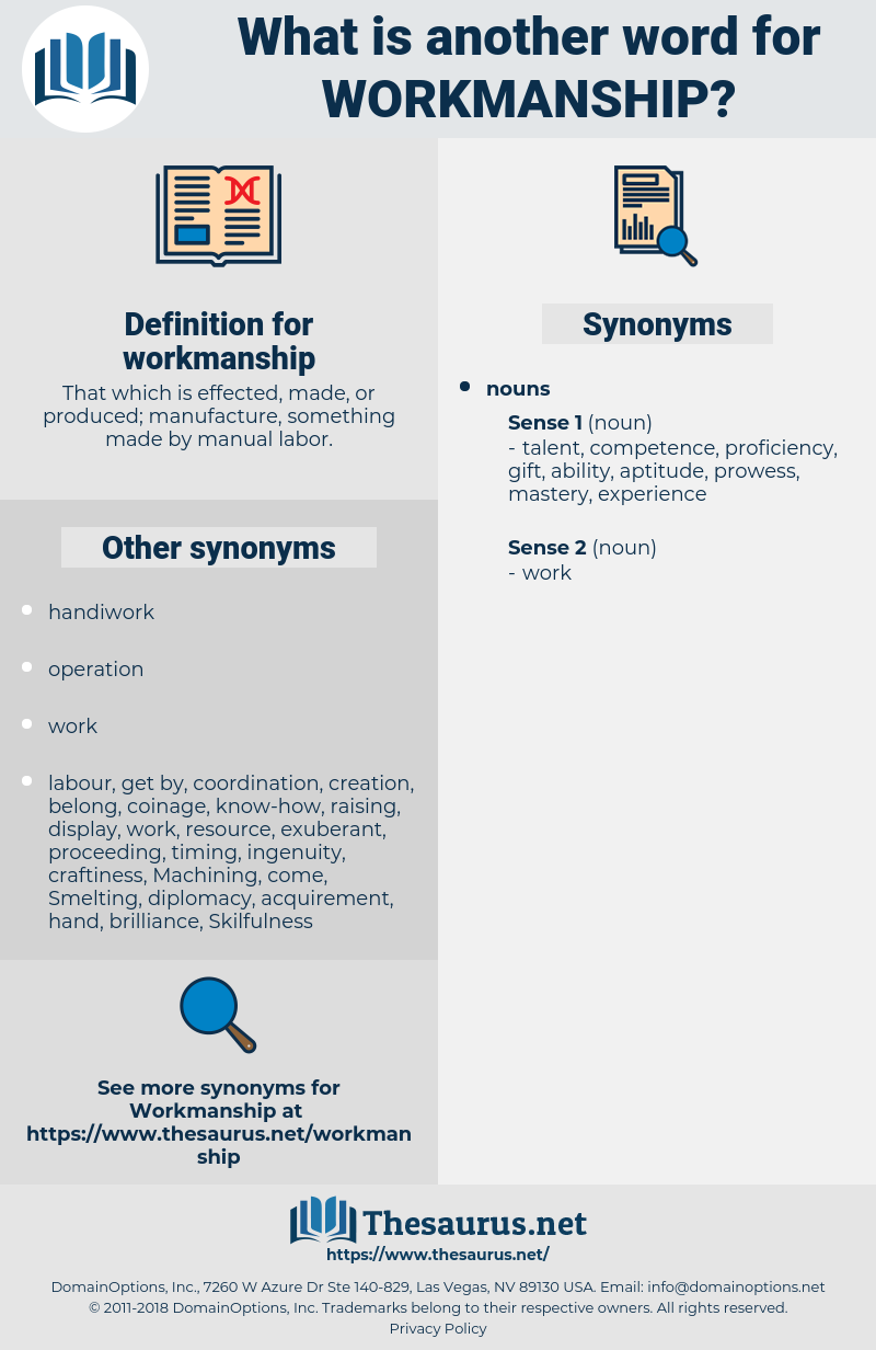 workmanship, synonym workmanship, another word for workmanship, words like workmanship, thesaurus workmanship