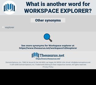 workspace explorer, synonym workspace explorer, another word for workspace explorer, words like workspace explorer, thesaurus workspace explorer