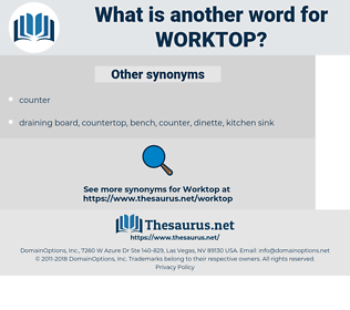 worktop, synonym worktop, another word for worktop, words like worktop, thesaurus worktop