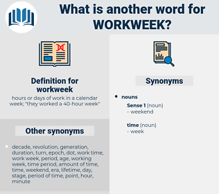 workweek, synonym workweek, another word for workweek, words like workweek, thesaurus workweek