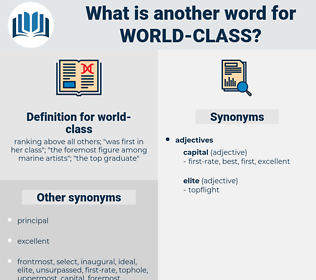 world-class, synonym world-class, another word for world-class, words like world-class, thesaurus world-class