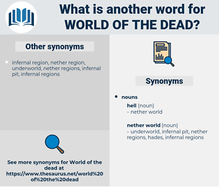 world of the dead, synonym world of the dead, another word for world of the dead, words like world of the dead, thesaurus world of the dead