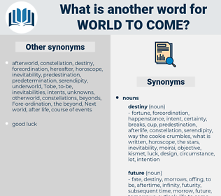 world to come, synonym world to come, another word for world to come, words like world to come, thesaurus world to come