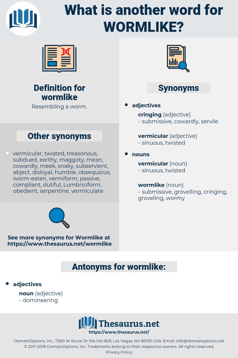 wormlike, synonym wormlike, another word for wormlike, words like wormlike, thesaurus wormlike