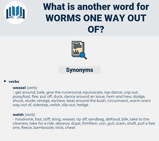 worms one way out of, synonym worms one way out of, another word for worms one way out of, words like worms one way out of, thesaurus worms one way out of
