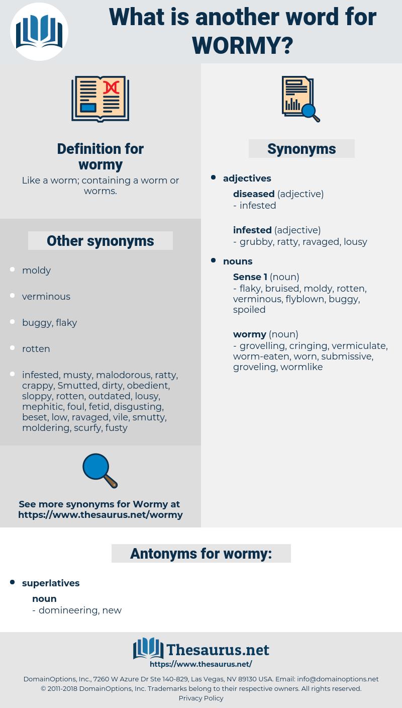 wormy, synonym wormy, another word for wormy, words like wormy, thesaurus wormy