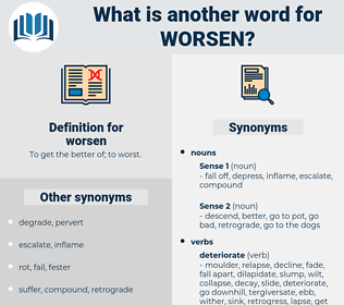 worsen, synonym worsen, another word for worsen, words like worsen, thesaurus worsen