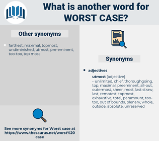worst case, synonym worst case, another word for worst case, words like worst case, thesaurus worst case